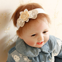 New 2015 innovative product hair crown children fabric lily flower hair accessories headbands for baby girls baby headbands 2015