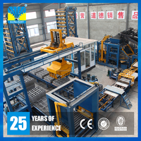QT15-15 Mould vibration hydrauic automatic machine making concrete paver block
