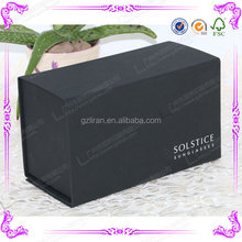 2015 Top Selling Customized Folding Black Cardboard Boxes with Magnetic Closure