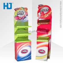 OEM/ODM offered pos cardboard candy corrugated pallet display stand for retail grocery store furniture