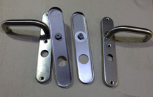 High class Stainless steel Long Plate door Handle with WC knob