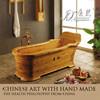cheap round solid wood bathtub, message bathtub, bathtub for fat people