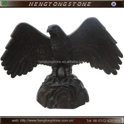 Large Black Marble Eagle Sculptures for Sale