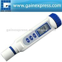 Pen-type Digital Salinity Meter with Multiple Calibration Points 0-70 ppt AUTO MANUAL Ranging + 1-TOUCH Calibration
