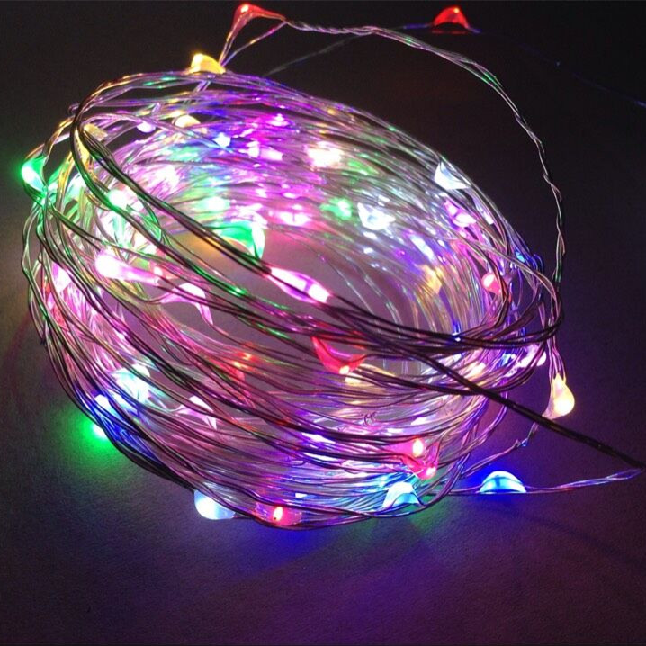 battery operated christmas micro mini led copper wire string lights