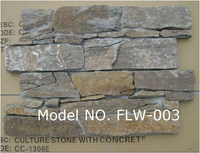 Cement culture stone Slab /concrete stone penal with mesh back