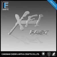 Top grade 3D outdoor self adhesive car emblem badge chrome auto logos