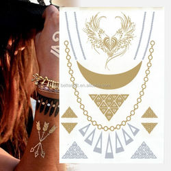 Charming bindi tattoo flash diy crown gold