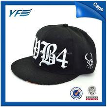 Top Quality Custom 2012 Blank Flat Brim Snapback Cap