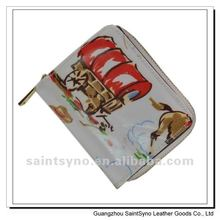 12015 Novelty design leather purse for lady