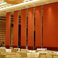 Movable acoustic partition walls with melamine / fabric / PU leather surface