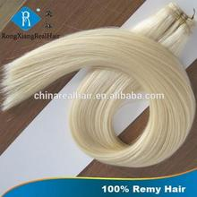 Wholesale Cheap Double Drawn 100% Human noble gold hair weaving