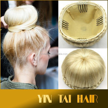Stock! 2015 new product synthetic women hair bun hairpieces high quality