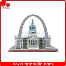 3D puzzle educational DIY toy Jefferson National Expansion Memorial (USA)