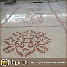 popular wall flower pattern water jet marble pattern