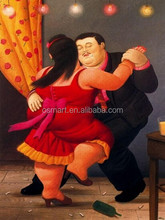 Factory Price Customized Available Wholesale Retailer Available Hand Paint Botero Reproduction Oil Painting Canvas
