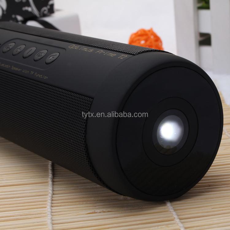 Sport Étanche Stéréo A2DP Sans Fil Bluetooth Haut-Parleur avec lampe de Poche fonction