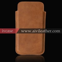 Leather Case For Iphone6 ,First Layer Cow Leather Case Protective Pouch Sleeve Cover For iPhone 6