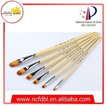 manico in legno oro sintetico pennelli set