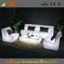 Fashion led illuminated sofa, illuminated led sofa, plastic led sofa