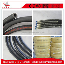 Reinforced Flexible Rubber Hose Fuel Oil Resistant Hydraulic Pipe 50/100 Length