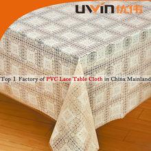 1.32*22m rollo de pvc hermoso cordón impreso diseño de la flor mantel