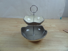 new products kitchenware bowknot design ceramic fruit holder