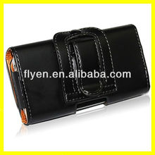 "Belt Clip Case Genuine Leather Pouch Carrying Holster Case for iphone 5 5"" Belt Loop 2013 New Arrival Hot Selling"