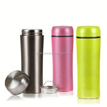 2015 dull polished painting double wall thermos flask refills , 400ml thermal flask