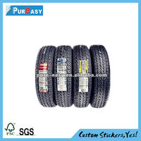 Strong adhesive aluminum foil tyre label