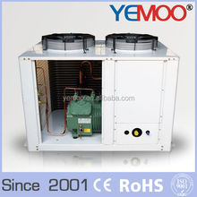 YEMOO cold room fan motor coil refrigeration condensing unit with U type condenser and x hp Bitzer Copeland compressor