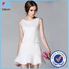 Trade Assurance Yihao 2015 Summer Latest Lady Fashion Beaded Sleeveless Office Formal Dress