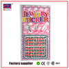 New products 2015 custom adhesive acrylic rhinestone gem sticker