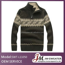 Nouveau modèle pull décontracté hommes col montant chandail