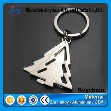 customized logo promotional item in christmas metal blank tree shape keyring