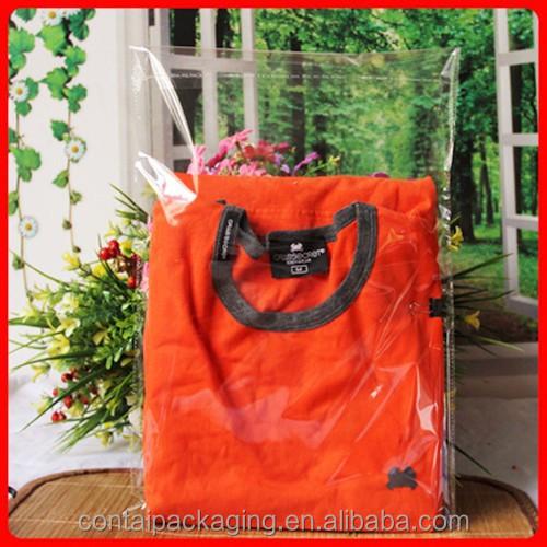 Cheap wholesale custom size clear clothes plastic for Cheap t shirt bags wholesale