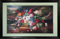 Sanjing oil painting silk art 100% handmade embroidery home decoration made in china