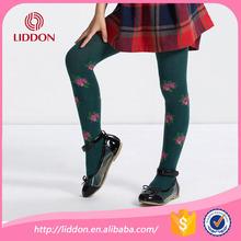 South korea school girls custom design flower jaquard cotton tights pantyhose