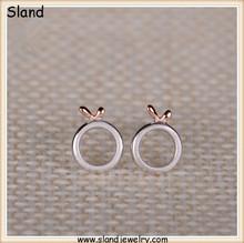 OEM&ODM 925 sterling silver trend jewelry wholesale dainty cute design pure silver jewelry stud earrings matte finished