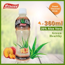 360ML Houssy [aloe vera drink] Peach Flavored Aloe Cube