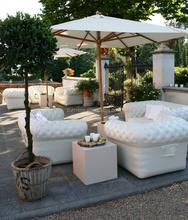 Hot sale durable plastic multicolor inflatable soft air sofa
