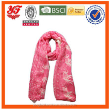 Unique design polka dot print polyester scarf