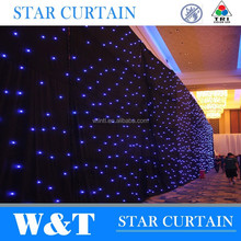 W&T DMX control white color led star curtains for stage backdrops 8X3m