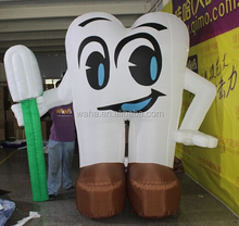 Attractive toothpaste inflatable teeth/event/party/exhibition/trade/advertising/promotion/inflatable teeth replica/model W939
