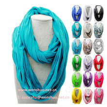 Solid Color Cotton Loop Scarf Wholesale