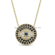 Fashion new arrival evil eye glowing crystal newest crystal necklace