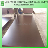 Black Film Plywood construction building material,18mm brown film formwork board