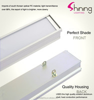 2015 decorative 24W 110x1200x40 led linear pendant light for home