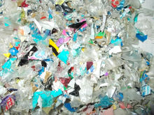 PET bottle flakes color mix