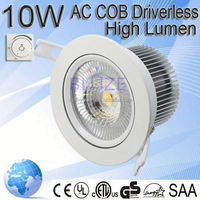 High quality 10w no driver led downlight manufacture supply